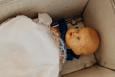 girl figurine in box