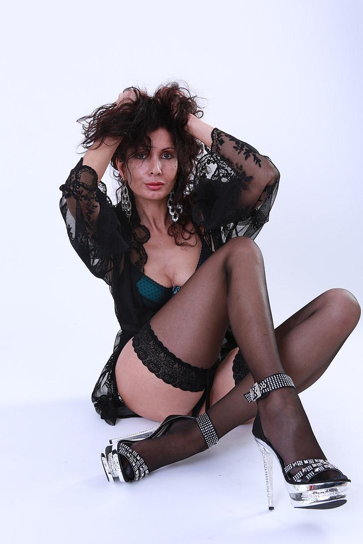 woman, studio, sexy, model, female, sensual