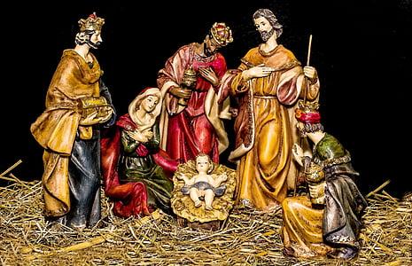 The Nativity figurine set