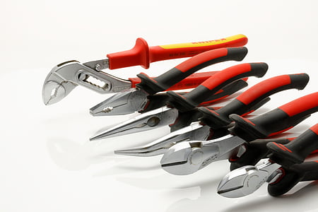 red-and-black plier set