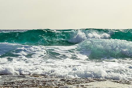 green ocean waves