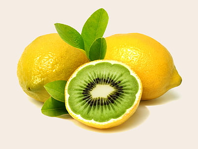 yellow lemon fruits