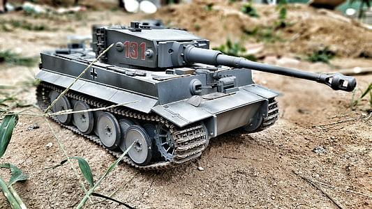 black panzer die-cast model