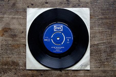 black vinyl CD with case