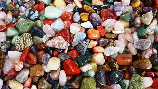 assorted-color stone decor lot