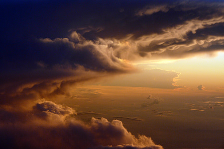 aerial shot of clouds