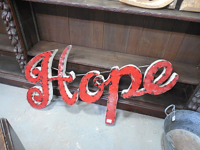 red hope letter decor