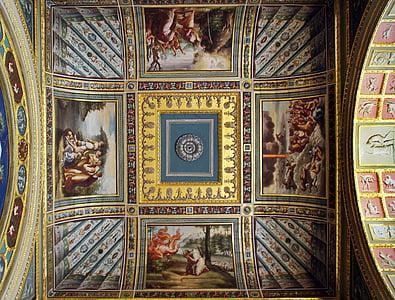 russia, st-petersburg, hermitage, museum, ceiling, fresco