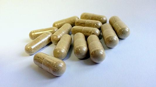 brown medication capsule lot