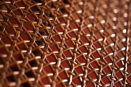 brown wicker texture in closeup shot