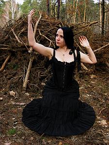 woman in dancing gesture
