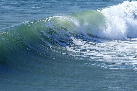 photo of crashing waves