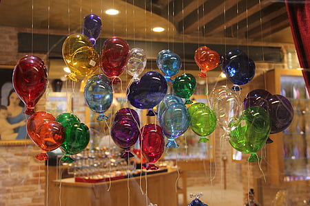 assorted hanging balloon decors