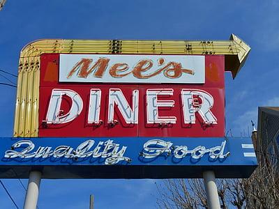 Mel's Dinner signage