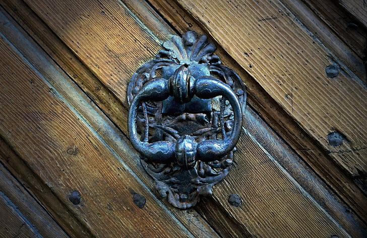 Ornate Black Metal Door Knocker