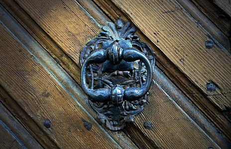 ornate black metal door knocker