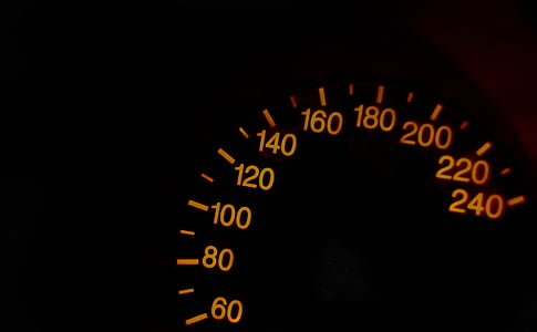 vehicle analog speedometer