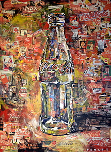 Coca-Cola abstract painting
