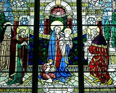 religious stein glass decor