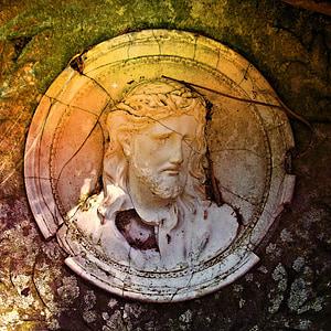 photography of Jesus Christ ceramic commemorative plate
