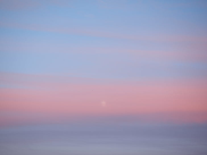 sky, evening sky, sunset, haze, colourless, foggy
