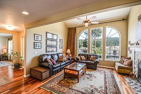beige and brown livingroom