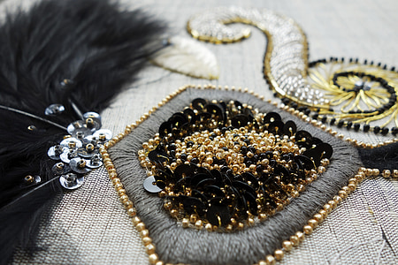 beaded gold-colored accessory
