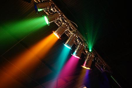 on disco lights