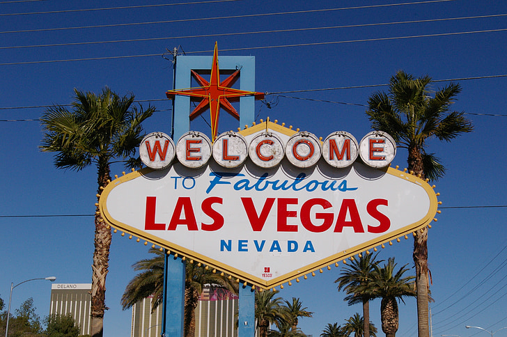 Welcome to Las Vegas road sign