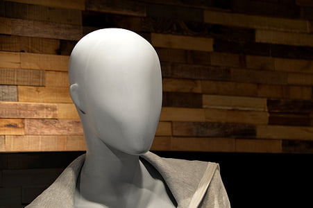 grey faceless mannequin