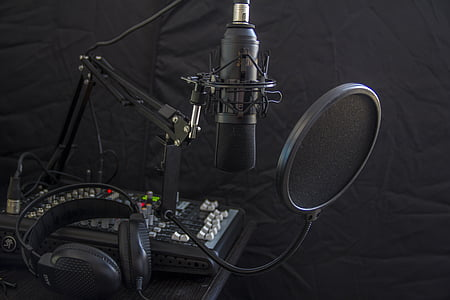 condenser microphone with pop filter