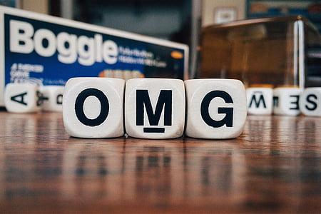 photo of OMG Boggle blocks