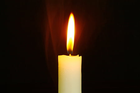 white long candle