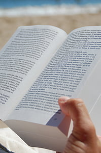 person reading opened book