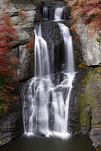 portrait photography of waterfalls during daytime