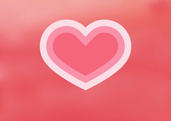 red and pink heart logo