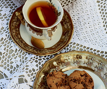 cookies on white saucer