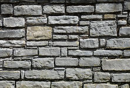 grey concrete brick wall