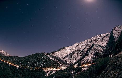 brown mountain alps