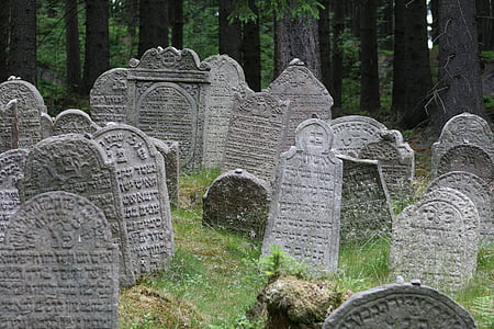 graveyard photography during daytime