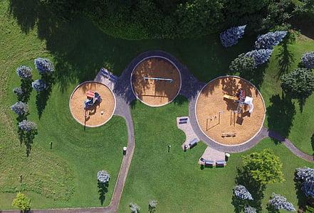 aerial photo of playground
