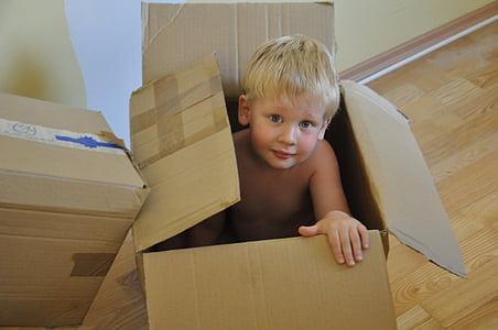 boy inside box