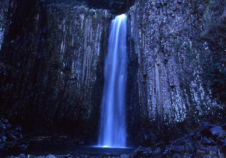 waterfalls in rock formation