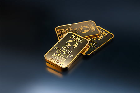 three Global Fine gold bars