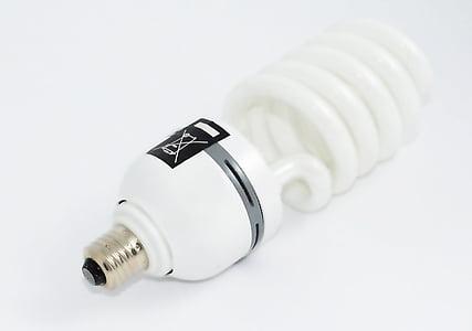 white CFL LED bulb