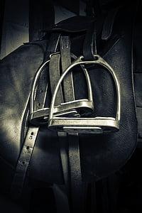 stirrups, saddle, equestrian, horse, leather, sport