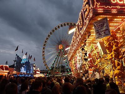 people in amusement park