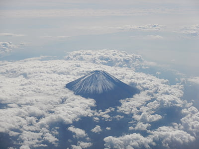 aerial photography of Mount Fuji, Japan