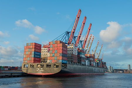 photo of cargo vessel during daytime
