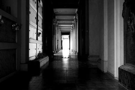 dark alley inside building